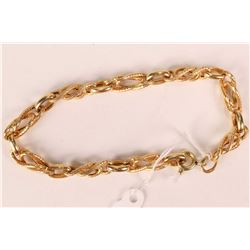 Ladies 14kt yellow gold linked bracelet
