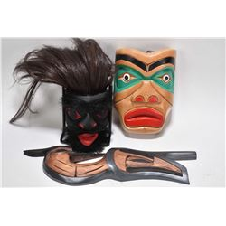 "Selection of Aboriginal and Haida carvings including various artists Norm Mitchell, Ed Jeffries, ""H"