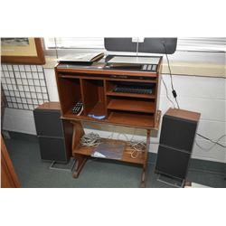 Midcentury Bang & Olufsen stereo system including Beosenter 7000 record player radio cassette combin