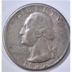 1932-D WASHINGTON QUARTER, XF