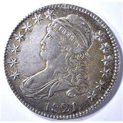 1821 BUST HALF XF/AU