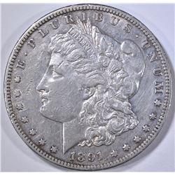 1891-CC MORGAN DOLLAR, XF