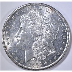 1891-S M9ORGAN DOLLAR, GEM BU
