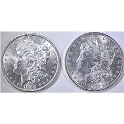 1880 & 1881-O CH BU MORGAN DOLLARS