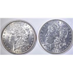 1884 CH BU & 1885 BU MORGAN DOLLARS