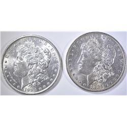 1883-O & 1884-O MORGAN DOLLARS, CH BU
