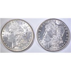 1885-O CH BU & 1886 BU MORGAN DOLLARS