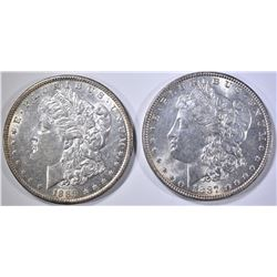 1887 CH  BU & 1889 BU MORGAN DOLLARS