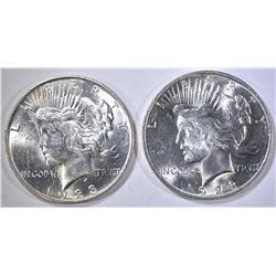 1923-P,D PEACE DOLLARS CH BU