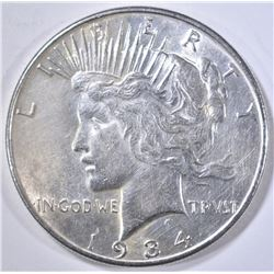 1934 PEACE DOLLAR BU CLEANED