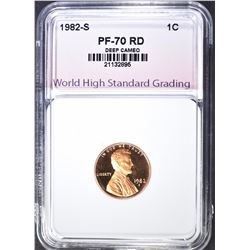 1982-S LINCOLN CENT, WHSG PERFECT GEM PF RED
