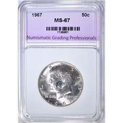 1967 KENNEDY HALF NGP SUPERB GEM BU
