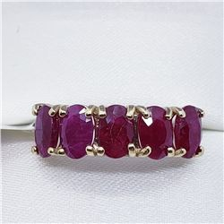 10K YELLOW GOLD NATURAL RUBY RING SIZE 6.5