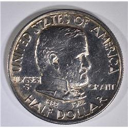 1922 GRANT COMMEM HALF DOLLAR  BU