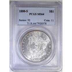 1880-S MORGAN DOLLAR  PCGS MS-64