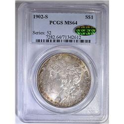 1902-S MORGAN DOLLAR  PCGS MS-64 CAC