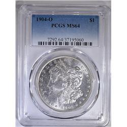 1904-O MORGAN DOLLAR  PCGS  MS-64