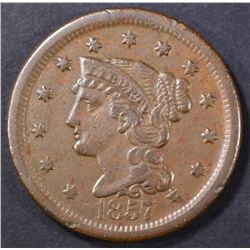 1857 LARGE CENT   XF+