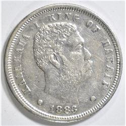 1883 HAWAII DIME   AU