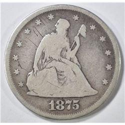 1875 20 CENT PIECE  FINE SCRATCHES