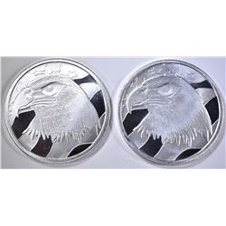2-PLEDGE OF ALLEGIANCE 1-OUNCE .999 SILVER ROUNDS
