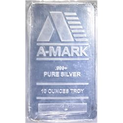 TEN OUNCE .999 SILVER BAR A-MARK