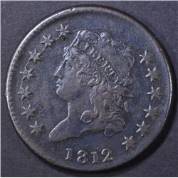 1812 LARGE CENT  SHARP XF