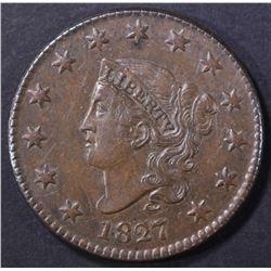 1827 LARGE CENT  CH AU
