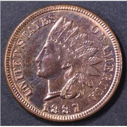 1887 INDIAN CENT  GEM BU