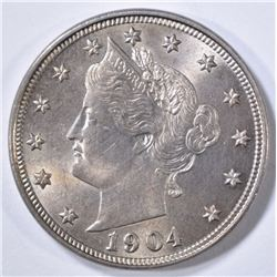 1904 LIBERTY HEAD NICKEL  GEM BU