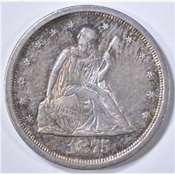 1875-S SEATED 20-CENT PIECE  NICE ORIG UNC