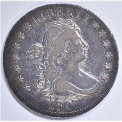 1807 DRAPED BUST QUARTER  XF