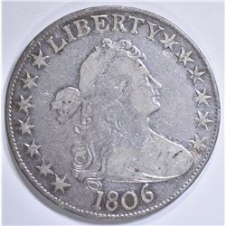 1806  DRAPED BUST HALF DOLLAR  XF