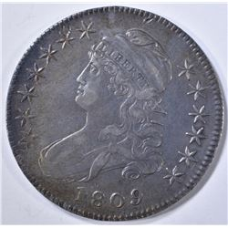1809 CAPPED BUST HALF DOLLAR  NICE ORIG AU