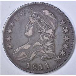 1811/10 CAPPED BUST HALF DOLLAR  CH XF