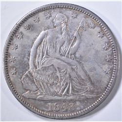 1843 SEATED LIBERTY HALF DOLLAR  ORIG UNC