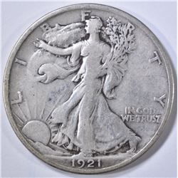 1921 WALKING LIBERTY HALF DOLLAR  VF
