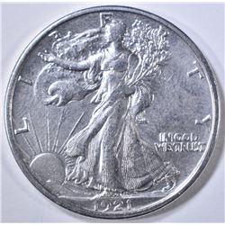 1921-S WALKING LIBERTY HALF DOLLAR  CH AU