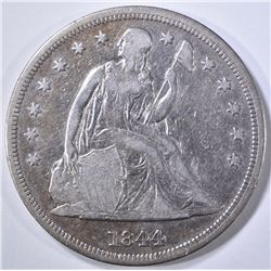 1844 SEATED DOLLAR  VF/XF
