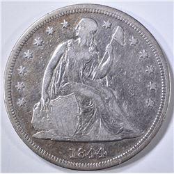 1844 SEATED DOLLAR  VF/XF