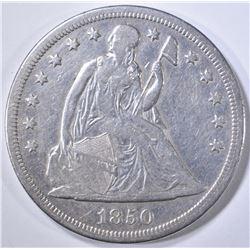 1850-O SEATED DOLLAR  XF