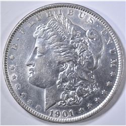 1901 MORGAN DOLLAR  BU  OLD CLEANING