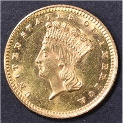 1873 $1 GOLD LIBERTY  CH BU  OPEN 3