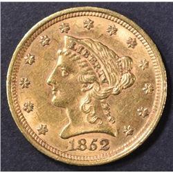 1852 $2.5 GOLD LIBERTY  CH BU