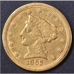 1865-S $2.5 GOLD LIBERTY  XF/AU