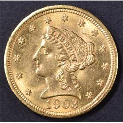 1903 $2.5 GOLD LIBERTY  CH BU