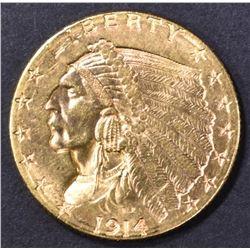 1914-D $2.5 GOLD INDIAN  CH BU