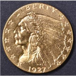 1927 $2.5 GOLD INDIAN  CH BU