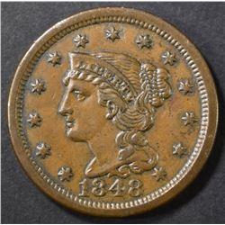 1848 LARGE CENT CH AU