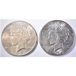 1923-S BU & 35 CH BU PEACE DOLLARS